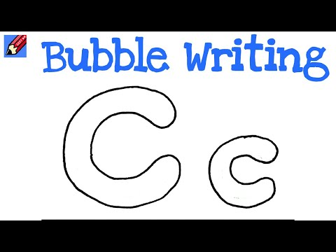 drawing bubble letters how to draw writing real easy letter c 21419 | hqdefault
