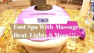 TENKER Foot Spa Bath  With Heat, Massage, Lights & More