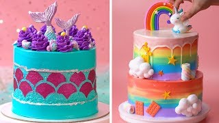 How To Make Cake For Your Coolest Family Members   Yummy Birthday Cake Hacks