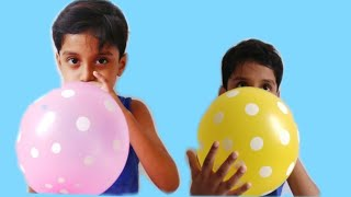 Play with balloons and learn colors with colors balloons with nursery rhymes song