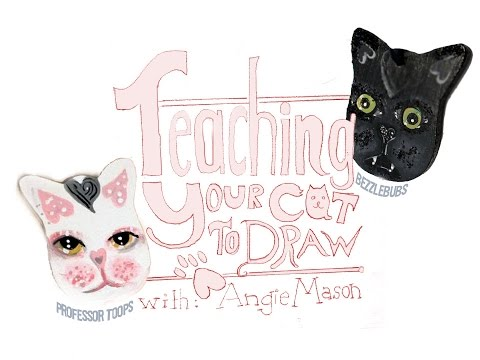 Teaching Your Cat to Draw With Angie Mason Lesson 1 & 2
