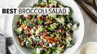 BROCCOLI SALAD | the perfect party salad recipe