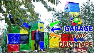 GARAGE FROM DUCT TAPE | ENLARGEMENT OF THE 4-STOREY HOUSE| DIY