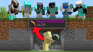 Minecraft Manhunt But Every Block I Break Increases My Haste