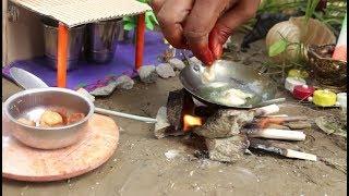 Banana bora tiny food recipe |  Village food Sweet banana bora tiny food