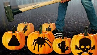 DONT Smash the Wrong Halloween Pumpkin!! (SCARY MYSTERY PUNISHMENTS)