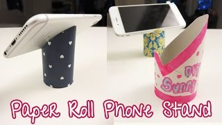 Paper Roll Phone Stand - Upcycle DIY | Sunny DIY