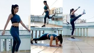 Watch: Katrina Kaif exercise on her Terrace for India to b..