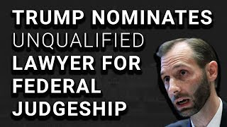 VIDEO: Trump Judge Nominee Can't Answer Basic Legal Questions
