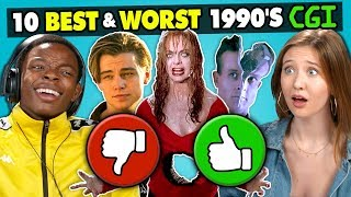 Teens React To 10 Best & Worst 1990s CGI Movie Effects