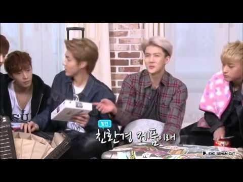 EXO SEHUN CUT / EXO's first box DVD 'EXO BOX' 엑소 캐리어 구경하기♥  [ENG SUB]