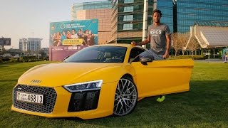 Gael Monfils Checks Out Audi R8