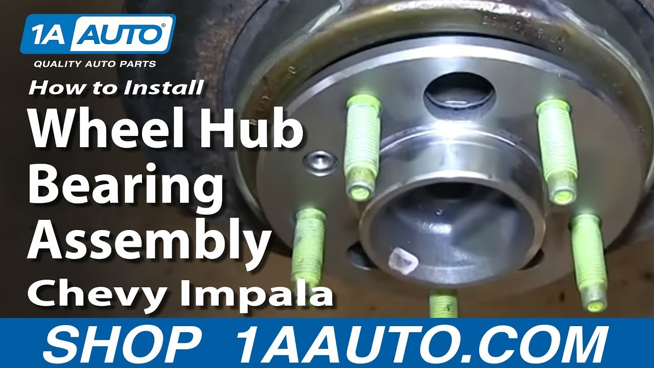 How To Install Replace Bad Rear Wheel Hub Bearing Assembly ...