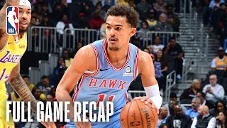 LAKERS vs HAWKS | Trae Young & LeBron James Duel In Atlanta | February 12, 2019