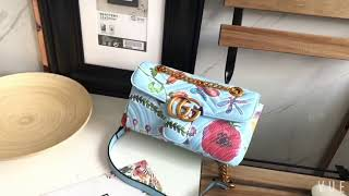 MY GUCCI Unskilled Worker GG Marmont shoulder bag 443497 0E21E 4881