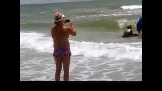 Baby Dolphin Rescue on Redington Beach July 4th 2014