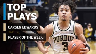 Highlights: Carsen Edwards Nabs Fifth Player of the Week Honor | Purdue | Big Ten Basketball
