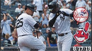 New York Yankees Highlights: vs Cleveland Indians | 8/17/19