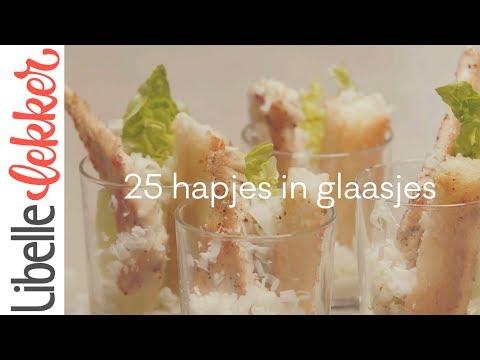 25 hapjes in glaasjes