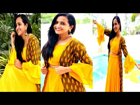 Anchor Lasya looks gorgeous in her latest looks