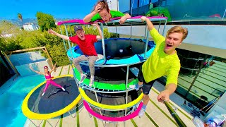 LAST TO LEAVE TRAMPOLINE TOWER WINS $10,000