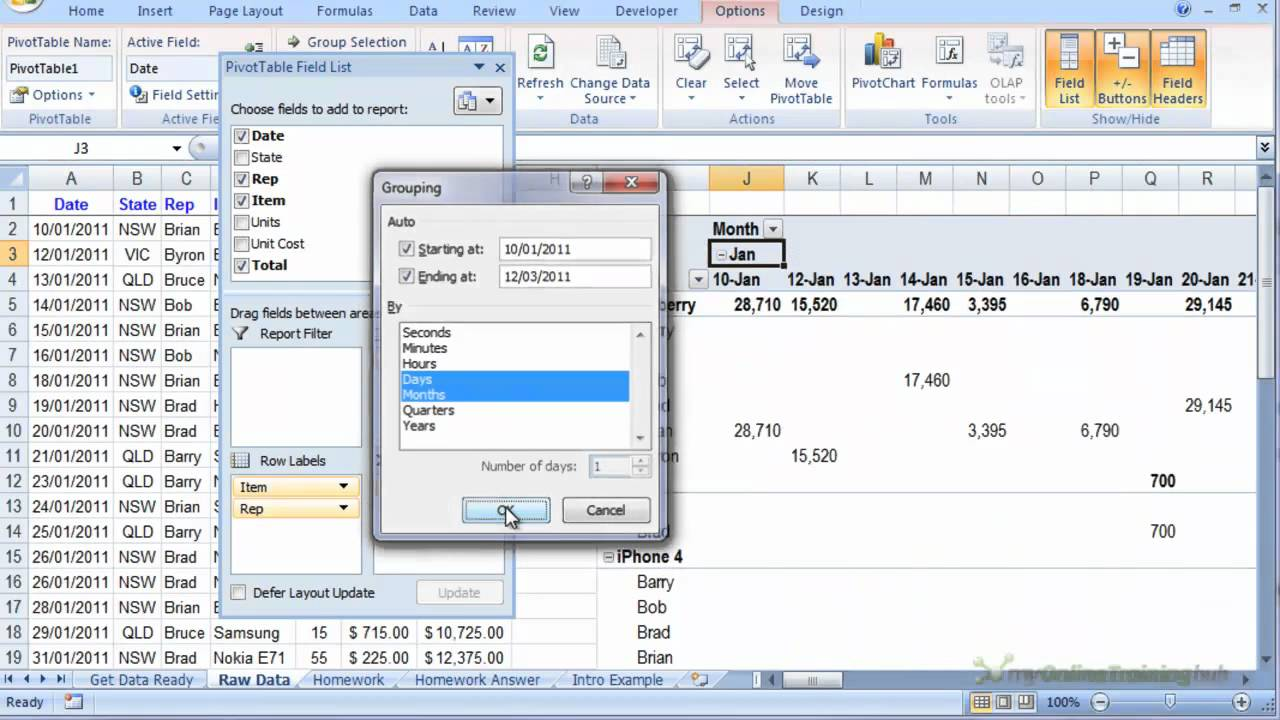 how to insert an excel pivot table youtube free pivot table training excel 2016