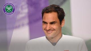 Roger Federer Runner-Up Press Conference Wimbledon 2019