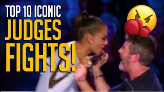 10 Most Iconic Judge FIGHTS on TV Talent Shows! Watch What Happens...