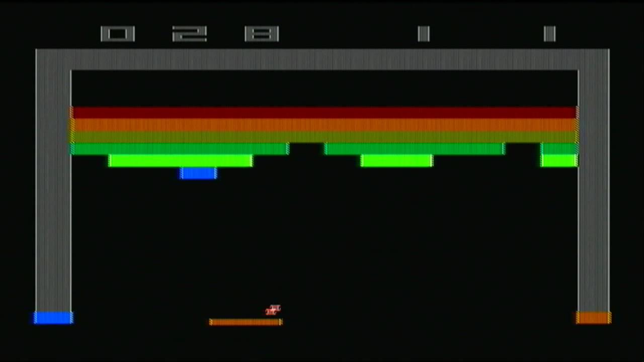 Atari 2600 Breakout Gameplay Youtube