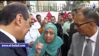 غياب محافظ الجيزة عن صلاة عيد الاضحى     -