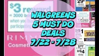 5 MUST DO WALGREENS DEALS 7/22 - 7/28 | Cheap makeup, candy & more!