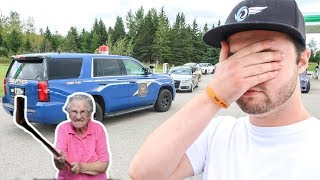 ANGRY OLD LADY CALLS COPS ON LAMBORGHINI!