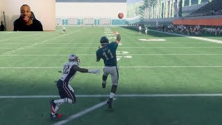 Who Can Throw a 99yd TD Pass First? Tom Brady, Carson Wentz or Nick Foles? Madden 18 Challenge