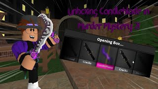 Unboxing GODLY Candleflame in Murder Mystery 2! (NEW HALLOWEEN GODLY)