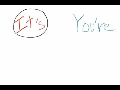 Usage of Its, It's, Your, You're