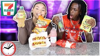 We Only Ate GAS STATION Food for 24 HOURS! (IMPOSSIBLE FOOD CHALLENGE)