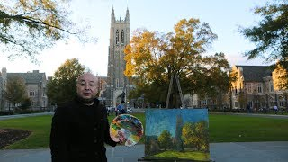 Duke Chapel Comes to Life on Canvas video