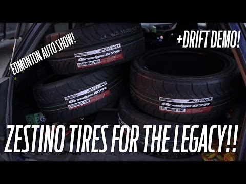 Subaru Legacy get some ZESTINO TIRES!!! plus DRIFTING in EDMONTON!
