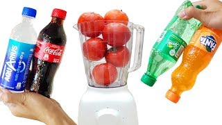 Experiment: Blender  vs tomato, carbonated water