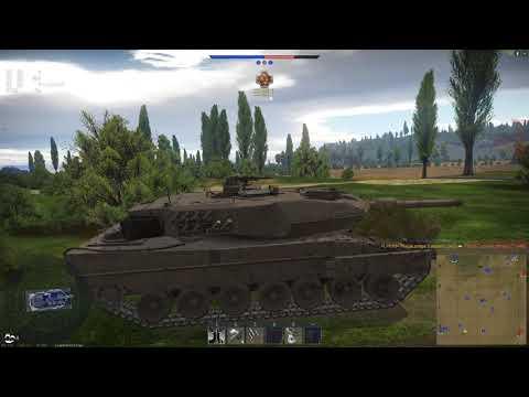 《戰爭雷霆》豹2A5 陸戰歷史 單車繞側 8連殺
