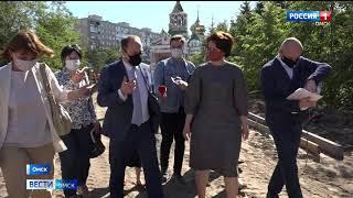 Оксана Фадина проверила работы по благоустройству объектов Ленинского округа Омска
