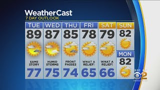 New York Weather: CBS2 8/19 Evening Forecast at 5PM