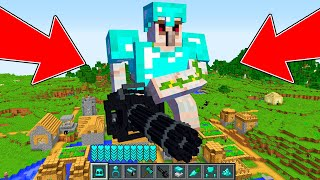 Minecraft - HOW to summon VILLAGER GOLEM DIAMOND MINIGUN TITAN: NOOB GOLEM vs ZOMBIE! NOOB VS PRO