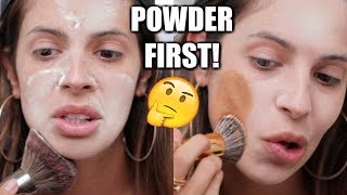 APPLYING POWDER BEFORE FOUNDATION | HIT OR MISS?