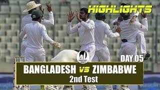 Bangladesh vs Zimbabwe Highlights    2nd Test    Day 5    Zimbabwe tour of Bangladesh 2018