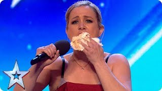 FIRST LOOK: Sensational opera singer STUFFS HER FACE WITH CAKE?! | BGT 2018