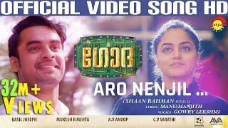 Aaro Nenjil Video Song with Lyrics   Godha Official   Tovino Thomas   Wamiqa Gabbi   Shaan Rahman