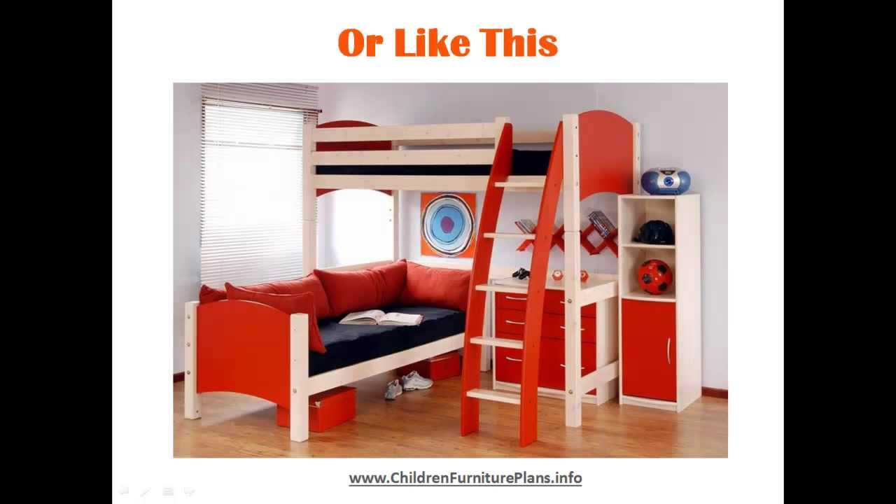 bunk beds for kids quick easy do it yourself plans youtube. Black Bedroom Furniture Sets. Home Design Ideas