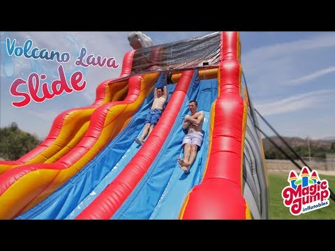 Volcano Lava Slide - Inflatable U Shaped Water Slide | Magic Jump, Inc.