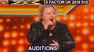 """Jacqueline Faye 53 Farm Girl  """"You're My World"""" STANDING OVATION AUDITIONS week 1 X Factor UK 2018"""